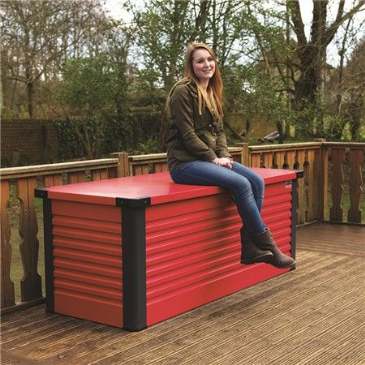 Trimetals LARGE PATIO STORAGE BOX RED
